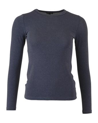 Black Colour Faye Lurex Mesh Top Jean Blue