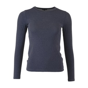Black Colour Faye Lurex Mesh Top in Jean Blue
