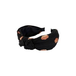 Cobber Dot Headband Black/Rose Gold