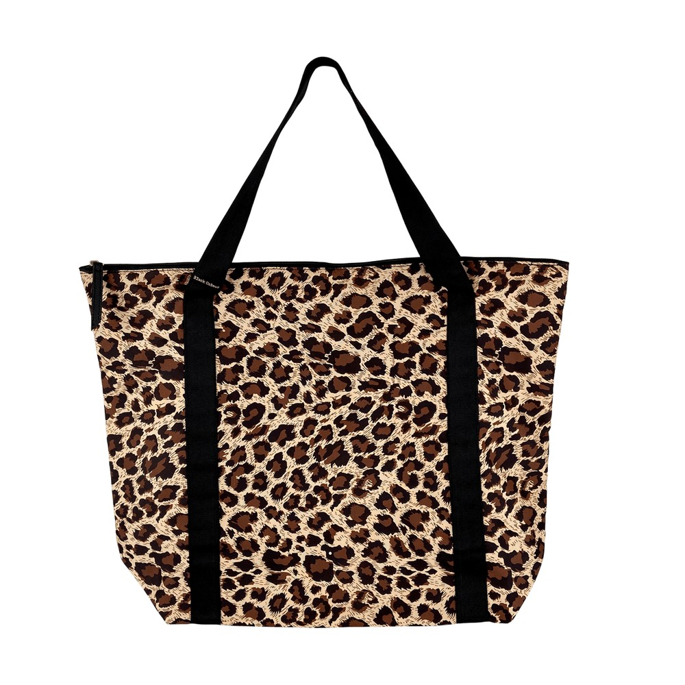 Black Colour Ally Shopper Bag Natural Leo