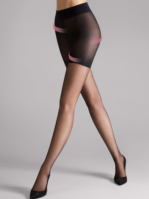 Wolford Luxe 9 Cont Top Tights Black