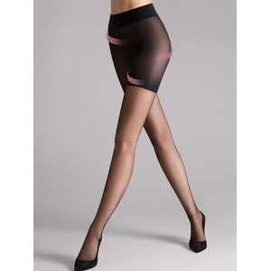 Wolford Luxe 9 Cont Top Tights in Black