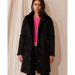 Mina Faux Fur Coat Black