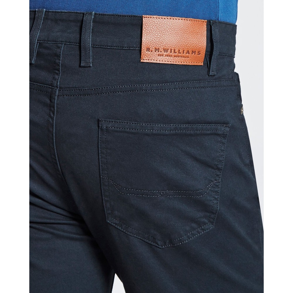 R.M.Williams Ramco Drill Jeans 32in Leg Navy