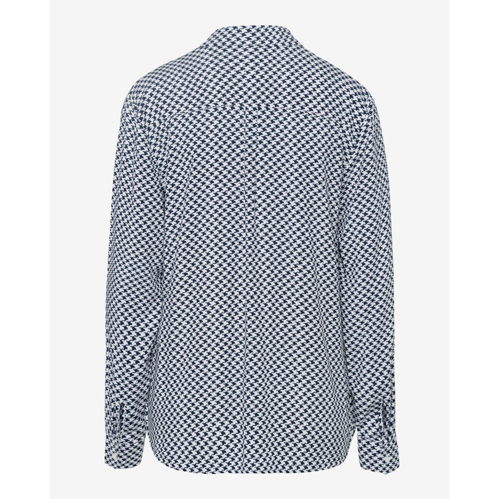 Brax Victoria Dogtooth Print Blouse Navy/White