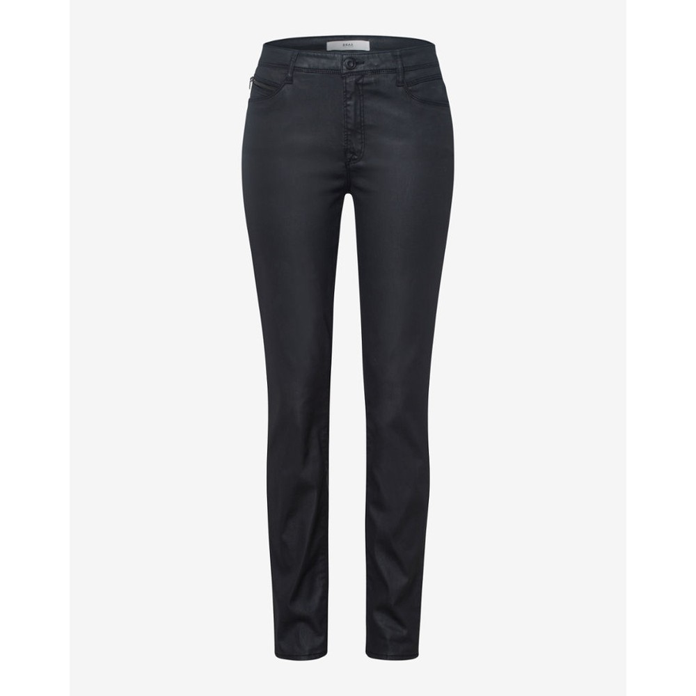 Brax Shakira Faux Leather Skinny Dark Charcoal