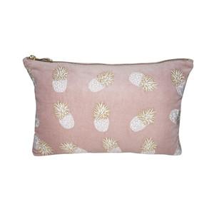 Ananas Velvet Wash Bag