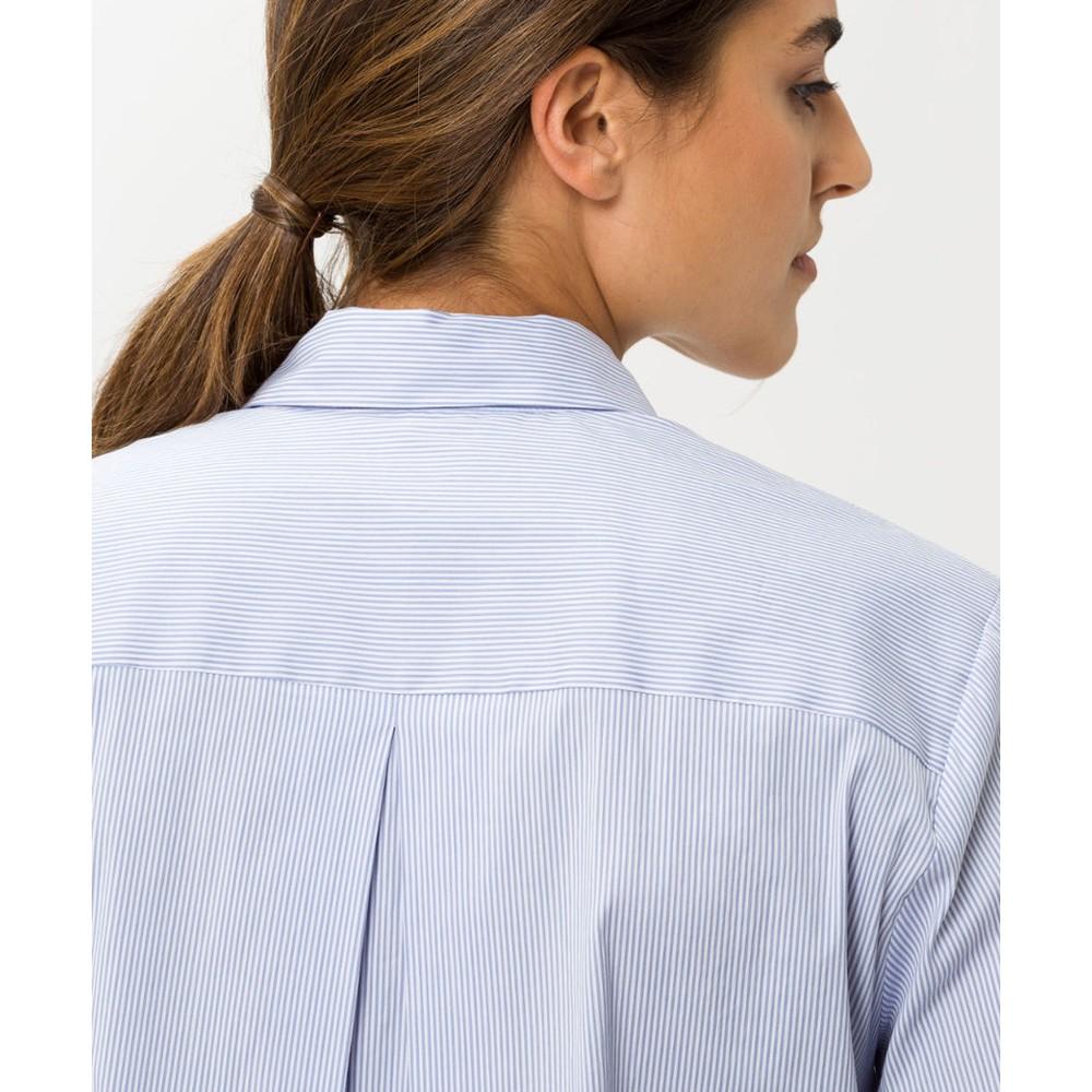 Brax Venera Stripe Shirt Blue/White Fine Strp