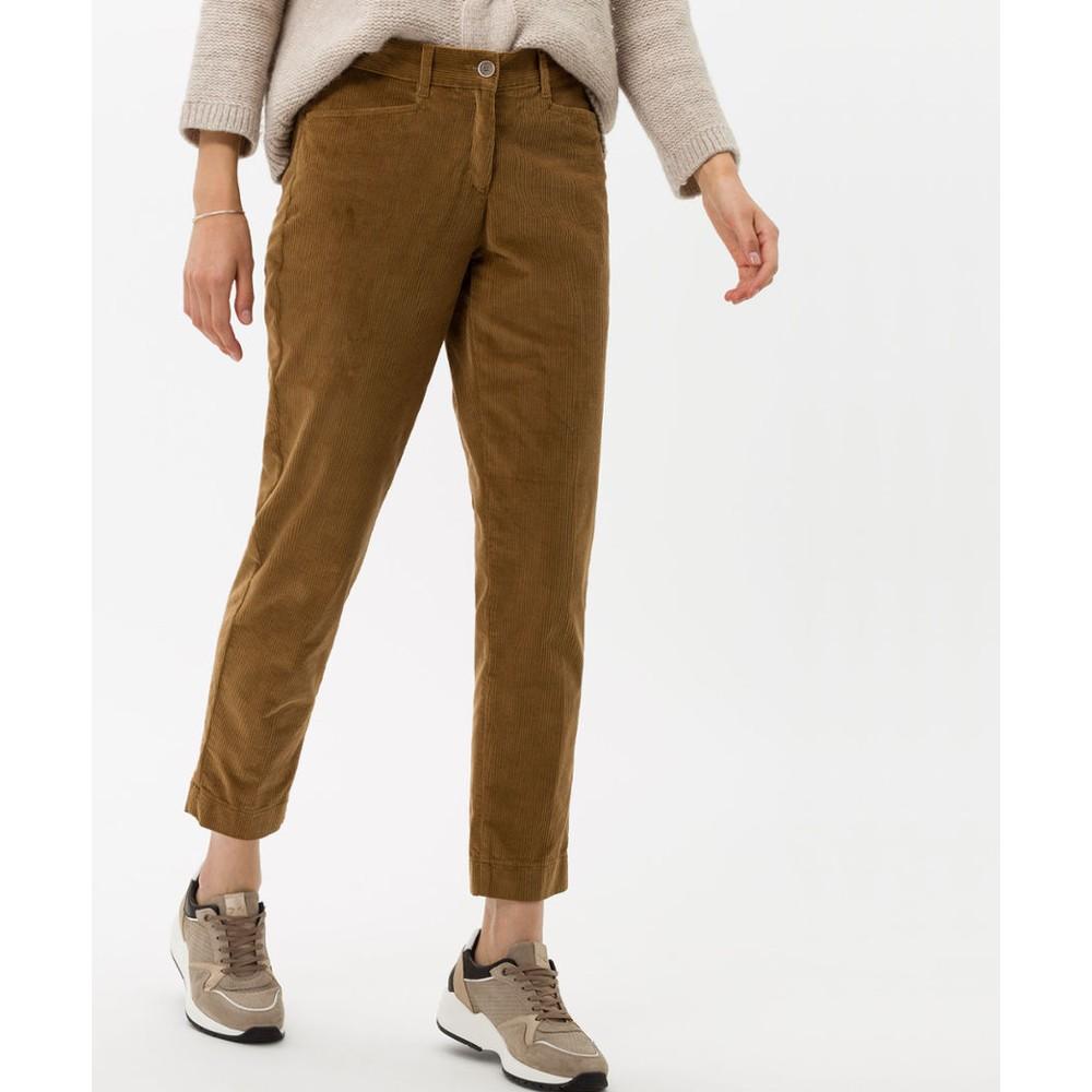 Brax Mara Slim Fit Cord Camel