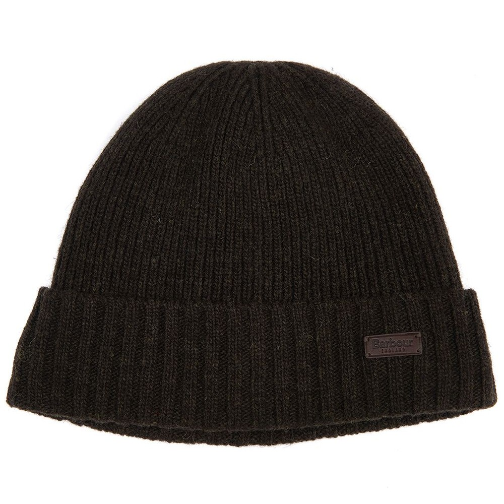 Barbour Carlton Beanie Hat Dark Green