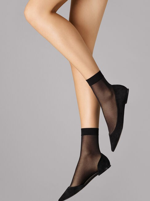 Wolford Indidvdual 10 Socks Black
