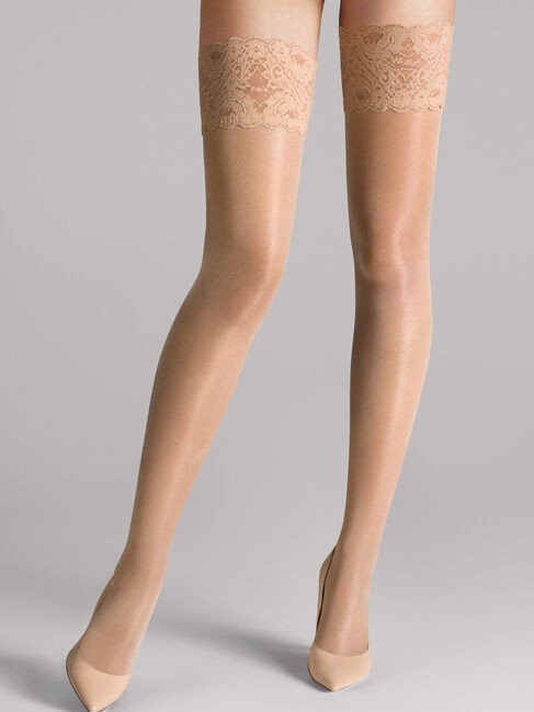 Wolford Satin Touch Stay Ups Fairly Light