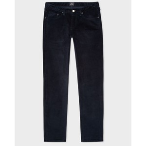 Cord Tapered Leg Trousers Navy