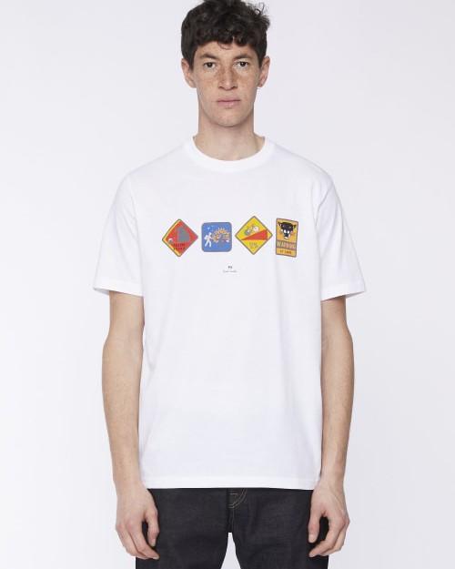 Paul Smith Warning T Shirt White
