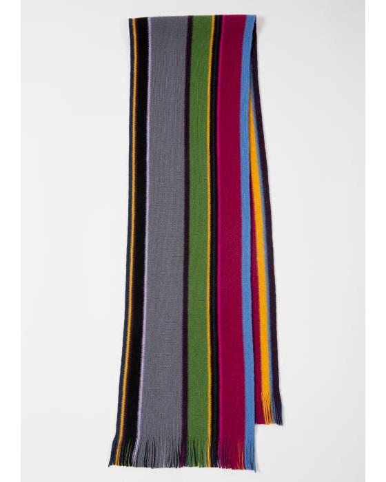 Paul Smith Accessories Orion Stripe Scarf Multicolour