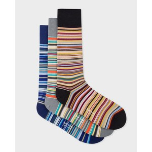 3 Pk Stripe Socks Multi