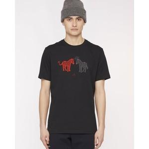 Halo Devil Zebra T Shirt Black