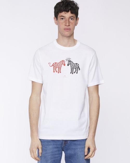 Paul Smith Halo Devil Zebra T Shirt White