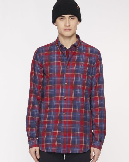 Paul Smith Multi Check Tailored Shirt Red/Indigo