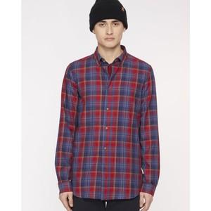 Multi Check Tailored Shirt Red/Indigo