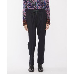 Drawstring Wst Wool Trousers Dark Navy