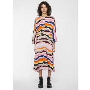 Batwing Mountain Stripe Dress Multi