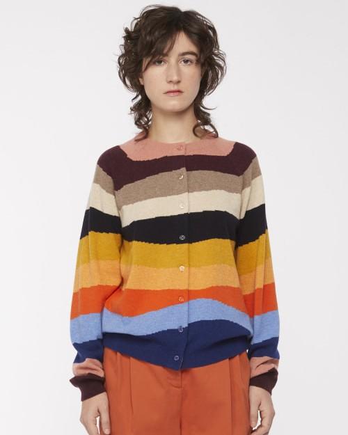 Paul Smith Womens Mountain Stripes Cardigan Multi