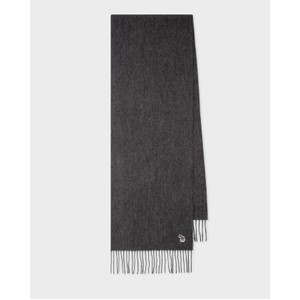 Zebra Patch Scarf Slate