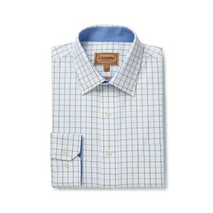 Schoffel Country Burnham Tattersal Shirt in Blue/Olive Check