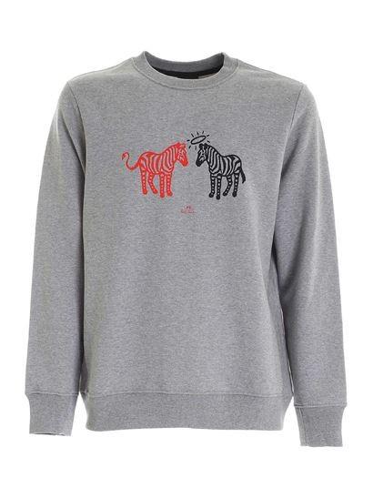 Paul Smith Angel Devil Zebra Sweatshirt Grey Melange