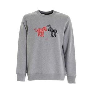 Angel Devil Zebra Sweatshirt Grey Melange