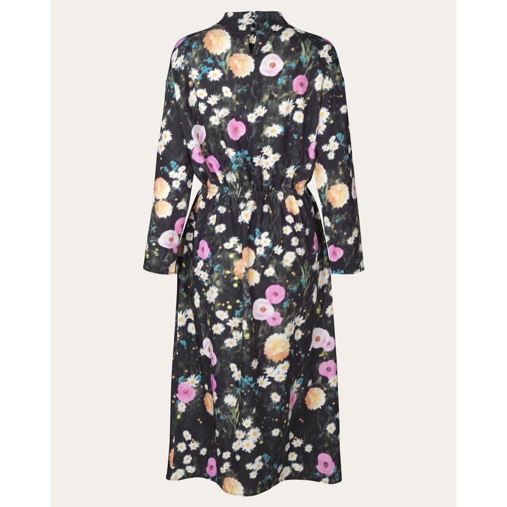 Stine Goya Jay L/S Floral Print Dress Poppy