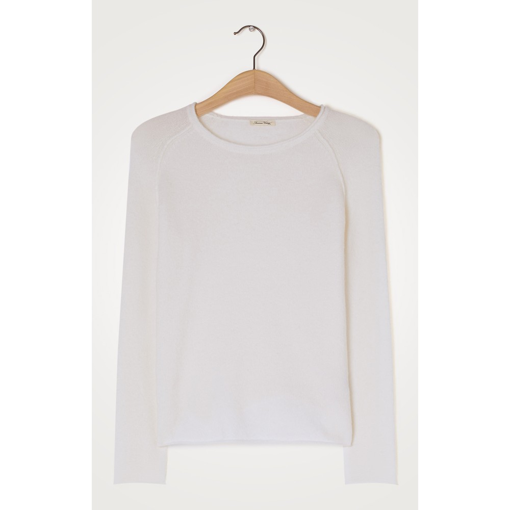 American Vintage Damsville R/nck Sweater White