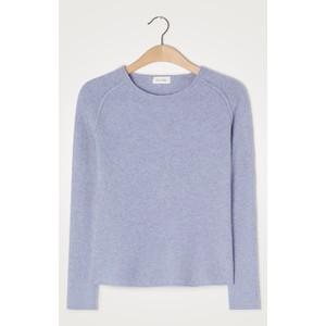 American Vintage Damsville R/nck Sweater in Blueish Melange