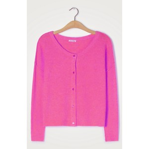 American Vintage Damsville Button Cardi in Pinky