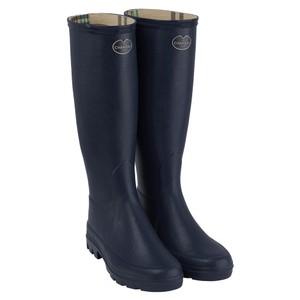 Iris Jersey Lined Boot Bleu Fonce