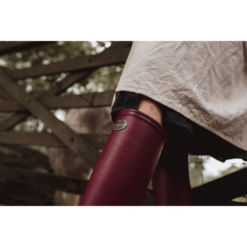Le Chameau Iris Jersey Lined Boot Rouge