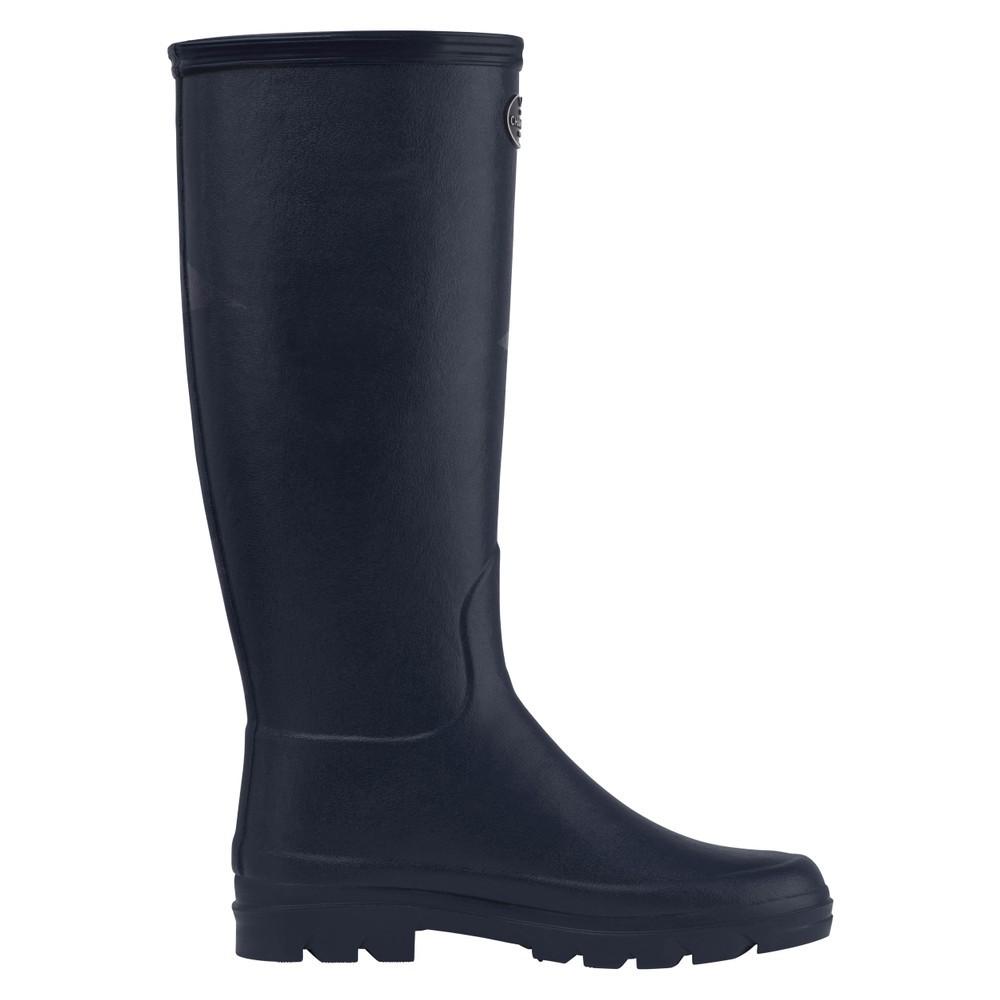 Le Chameau Iris Jersey Lined Boot Bleu Fonce