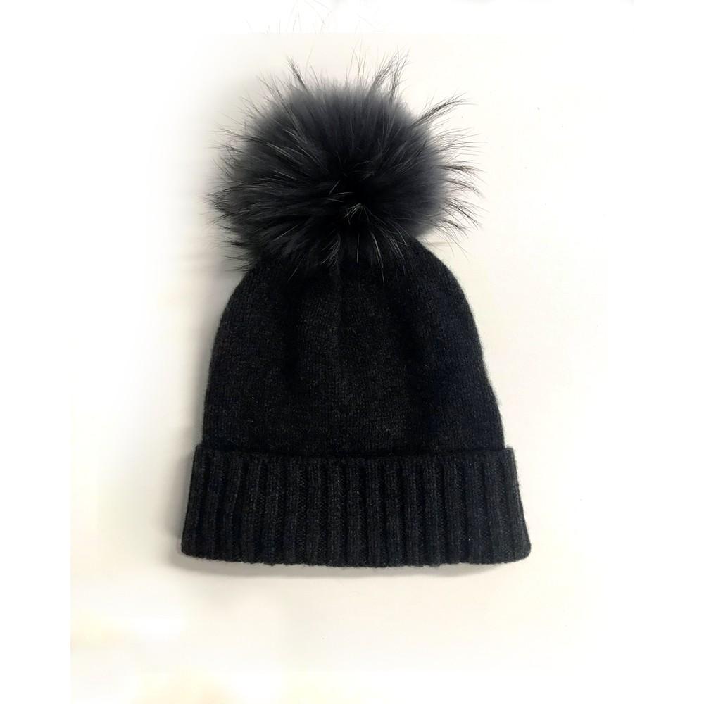 Kopka Accessories Miss Mundsen Pompom Hat Black