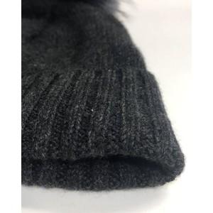 Kopka Accessories Miss Mundsen Pompom Hat Charcoal