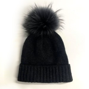 Miss Mundsen Pompom Hat Black