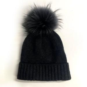 Miss Mundsen Pompom Hat Black