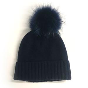Kopka Accessories Miss Mundsen Pompom Hat in Navy