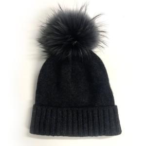 Kopka Accessories Miss Mundsen Pompom Hat in Charcoal