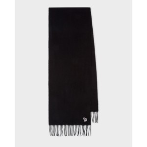Zebra Patch Scarf Black