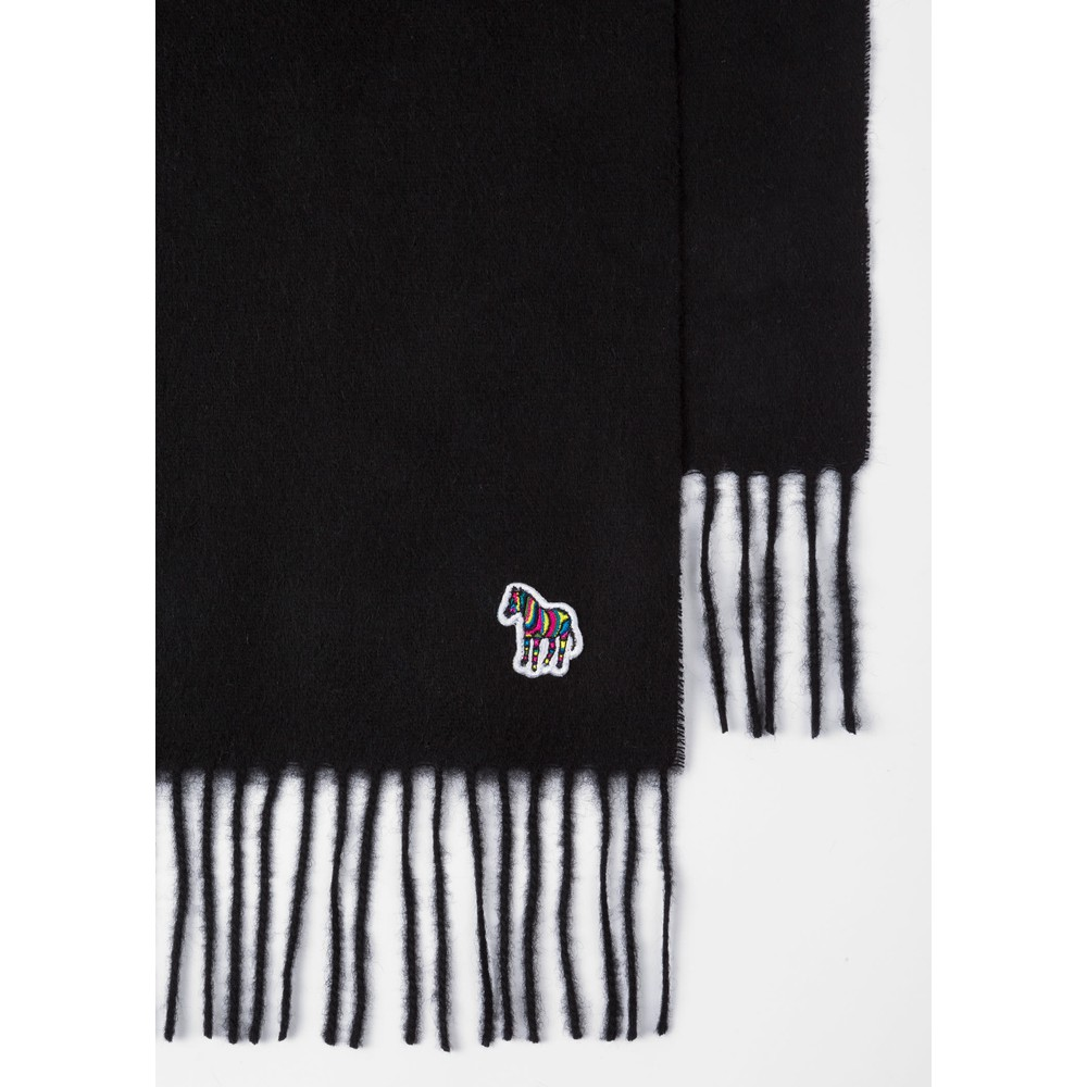 Paul Smith Accessories Zebra Patch Scarf Black