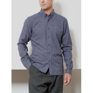 Clerkenwell Check Tab Shirt Lomand Blue