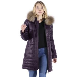 Mary Long Coat Plum