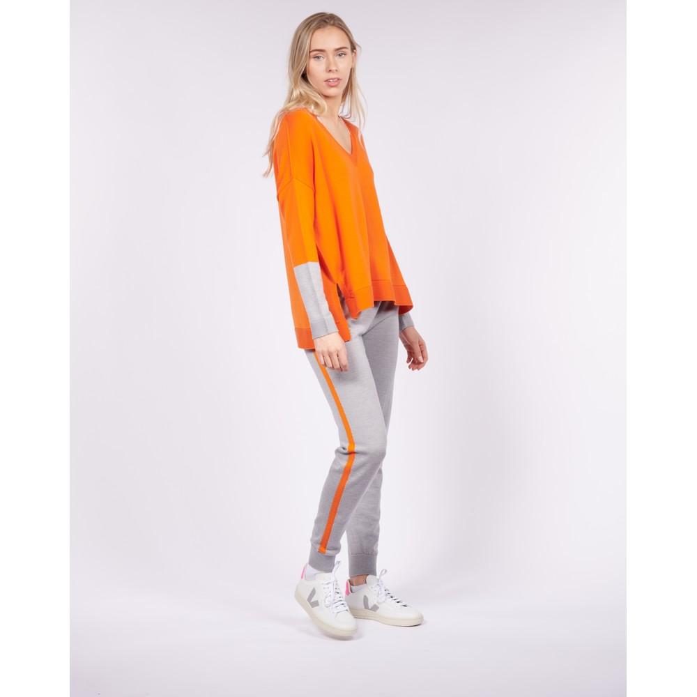 Cavells Merino Box V Orange/Grey