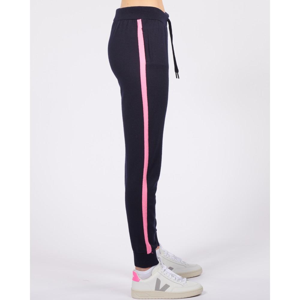 Cavells Contrast Stripe Jogger Dark Navy/Bright Pink